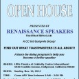 Renaissance Speakers Toastmasters Club invites one and all to an Open House on Sunday, November 16, at the Church of Scientology Celebrity Centre International in Hollywood, CA. Members and guests […]